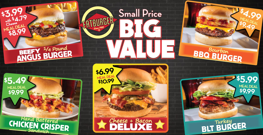 Fatburger Canada – FREE Burger If You Win Triple Burger Challenge The next time you find yourself at a Fatburger Restaurant in Canada be sure to give the Triple Burger Challenge a try. If you finish this whopper of a burger, you get a coupon for a FREE burger on your next visit.